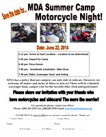 2014 MDA Summer Camp Motorcycle Night Save the Date
